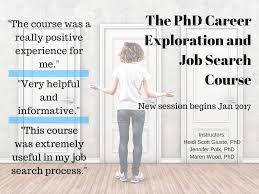 the phd career exploration and job search course phd jobs