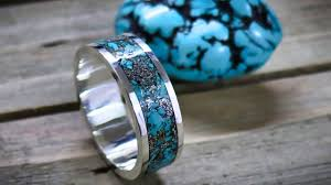 How to make a silver and turquoise <b>inlay ring</b> without a lathe ...