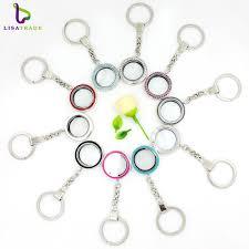 2017 Fashion <b>5pcs</b>/lot 30mm <b>Round</b> twist living locket keychains ...