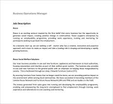 operations manager job description template –   free word  pdf    operations manager job description for business free pdf download