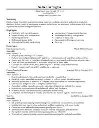unforgettable assembler resume examples to stand out   myperfectresumeassembler resume sample