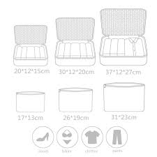 Do Not Miss New <b>6PCS</b>/Set <b>High Quality</b> Oxford Cloth Travel Mesh ...