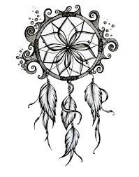 items similar to dreamcatcher drawing 8x10 pen and ink print on etsy this awesome black white