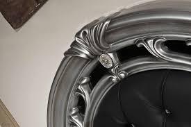 rococo italian classic black silver bedroom set black and silver furniture