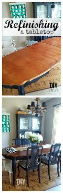 Restaining Kitchen Table Refinishing A Dining Table Diy Beautify