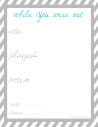 plan to happy 2013 this babysitter printable is perfect for your babysitter to fill out while you are gone