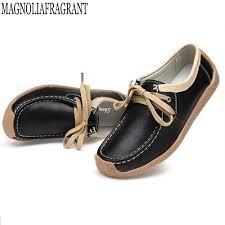 four seasons <b>Leather</b> mother shoes <b>soft bottom peas</b> Shoes female ...