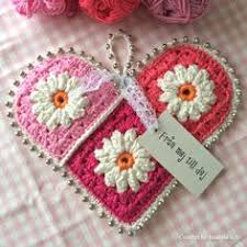Image result for crochet hearts tutorial