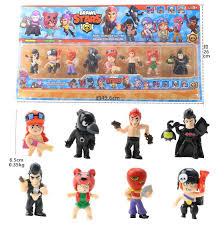 <b>8pcs</b>/set Brawl <b>Stars</b> Action Figure Toys Shelly Colt Jessie Brawl ...