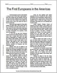 other the ojays and printed on pinterest the first european explorers in the americas   free printable american history reading with questions