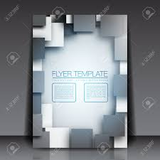 3d squares business flyer template design royalty cliparts 3d squares business flyer template design stock vector 15282698