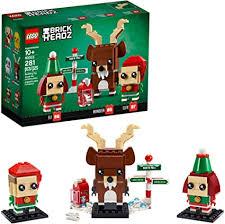 Amazon.com: LEGO Brickheadz Reindeer, Elf and Elfie 40353 ...