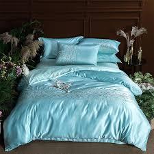 <b>Luxury</b> Embroidery Washed <b>Ice</b> Silk Plain Color <b>Bedding Sets</b> ...