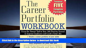 the career portfolio workbook using the newest tool in 00 19