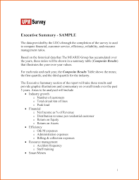 example executive summary format executive resume template 7 example executive summary format