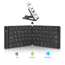 iPhone Foldable <b>Bluetooth</b> Keyboard Tablets and More-Black ...
