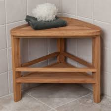 Small Bathroom Stools Stylish White Wooden Small Bathroom Bench On Laminate Floor