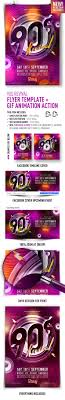 s revival flyer template gif animation action by feelsmart 90s revival flyer template gif animation action clubs parties events