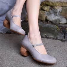 <b>Artmu Original New</b> Retro Medium Heels Women Shoes <b>Shallow</b> ...