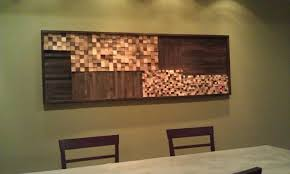 mosaic wall decor: heres  wood mosaic heres