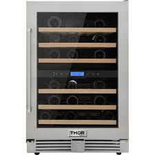 <b>Thor</b> Kitchen <b>46</b>-Bottle Capacity Stainless Steel Dual Zone Cooling ...