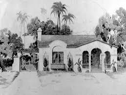 California Mission Spanish Bungalow House Plan   spanish mission bungalow   house plan