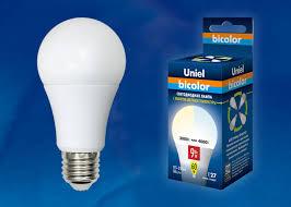<b>LED</b>-<b>A60</b>-<b>9W</b>/<b>WW</b>+<b>NW</b>/<b>E27</b>/<b>FR PLB01WH Uniel Лампа</b> ...