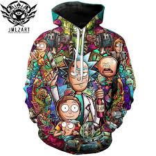 Camiseta De <b>Rick and Morty Hoodies</b> By jml2 Art 3D Unisex ...