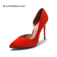 <b>BASSIRIANA</b> classic pumps high heels shoes woman Genuine ...