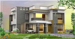 Modern style south Indian house exterior   keralahousedesignsDesign style   Flat roof square feet BHK home