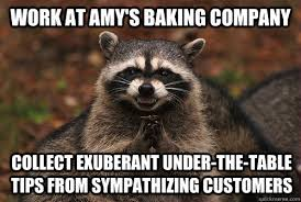 work at Amy's baking company collect exuberant under-the-table ... via Relatably.com
