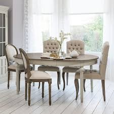 cream compact extending dining table: round oval extendable dining table with natural top light grey bas allissias attic