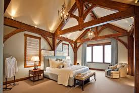 the other alternative is to mount track lights to the beamssome of them can be angled up to the peak to provide more ambient lighting bedroom ambient lighting