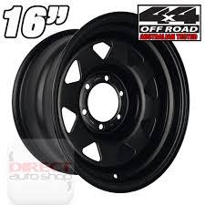 1x 16x7 10P Heavy Duty BLACK Steel Wheel Toyota Hilux Ranger ...