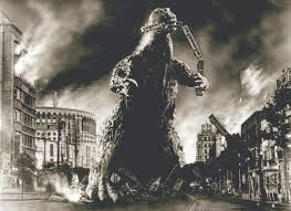 Image result for baby godzilla destroying tokyo pictures