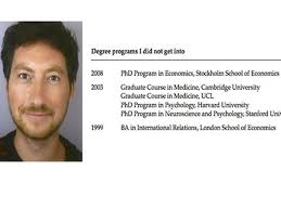 a princeton psychology professor has posted his cv of failures cv of failures professor on what success really means