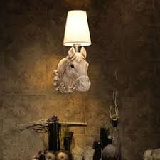 <b>Resin</b> horse head wall lamp <b>Nordic</b> creative IKEA lamp modern ...