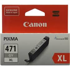 Оригинальный <b>картридж Canon CLI-471GY</b> XL (серый ...