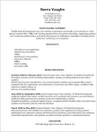 Professional Medical Receptionist Resume Templates to Showcase ... Resume Templates: Medical Receptionist Resume