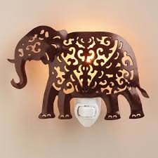 handcrafted metal elephant night light ambient lighting creates