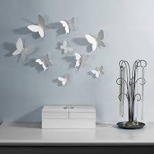 umbra wallflower wall decor white set: umbra mariposa wall decor se umbra mariposa umbra mariposa wall decor se