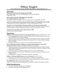 International Relations Resume Free Resume Templates