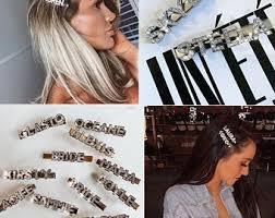Word <b>hair clip</b> | Etsy