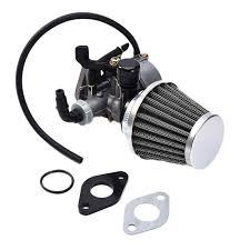 19mm PZ19 Hand Choke <b>Carburetor Carb Intake</b> Pipe <b>Air</b> Filter Fuel ...