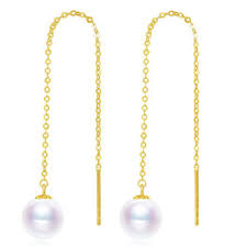 2019 <b>Sinya Au750 18k</b> Gold Dangle Drop Earring With 7 9 Mm ...