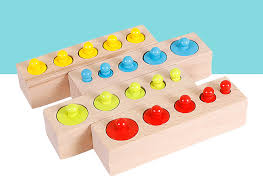 <b>Wooden</b> toys Montessori <b>Educational Cylinder Socket</b> Colorful ...