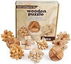 juler Solid Wood Hole Ming Lock <b>Luban Lock</b> Set <b>Children's</b> ...