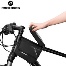 <b>ROCKBROS Cycling Bike Bicycle</b> Top Front Tube Bag Waterproof ...
