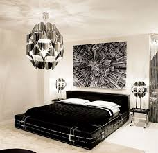 bedroomluxury black white bedding unique modern pendant and side lamp stainless night stand cool black white bedroom cool