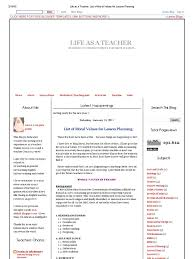 life as a teacher list of moral values for lesson planning life as a teacher list of moral values for lesson planning lesson plan